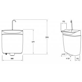 Úsporný WC splachovač s umyvadlem AQUAdue GrandesYs obr.10