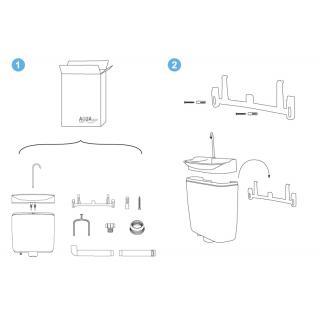Úsporný WC splachovač s umyvadlem AQUAdue GrandesYs obr.8