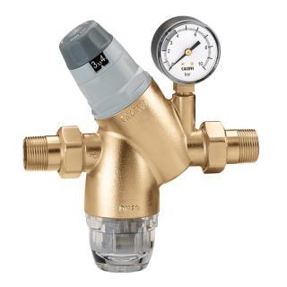 """Redukční ventil tlaku vody s filtrem CALEFFI 5351 - 3/4"""" s manometrem"""