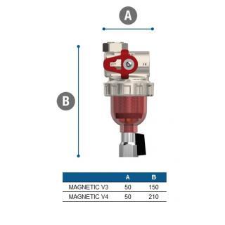 """Magnetický separační filtr Vipsgas Magnetic V4 - 3/4"""" obr.7"""