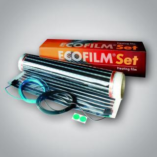 Topná elektrická folie Ecofilm set ES 80-1,0x 2,5m / 195 W