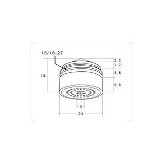 Spořič vody Hihippo HP155 - sprchový proud obr.3